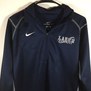 Nike Therma Fit Men's Pullover Jacket L Blue Laker